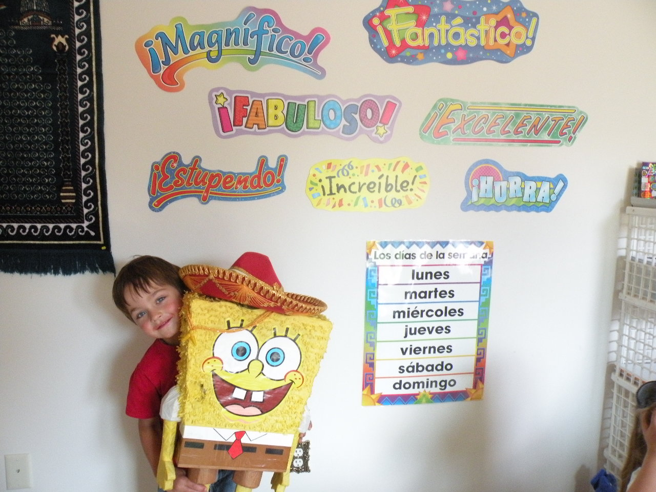 Victor with SpongeBob